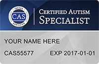 CAS Card - Certified Autism Specialist