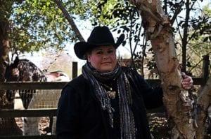 Anita outside